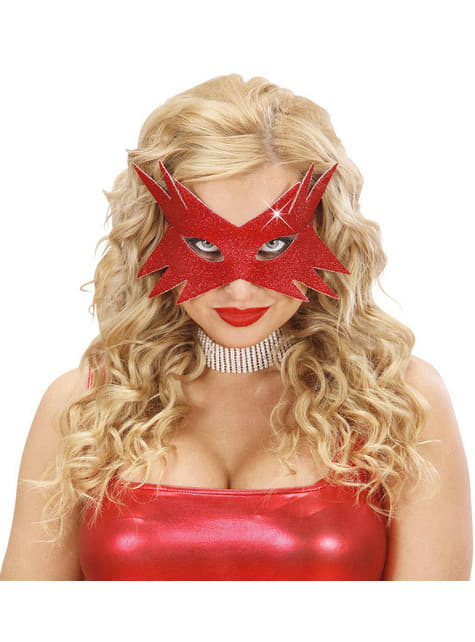 Antifaz estrella roja para mujer - para tu disfraz