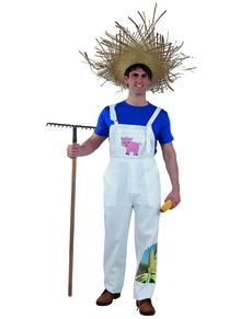 Disfraz de granjero simpático para hombre