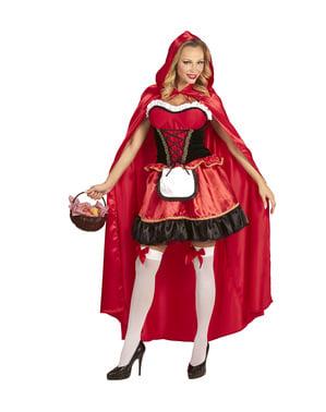 תלבושות כיפה אדומה וודלנד של אישה