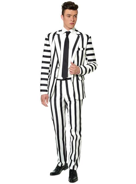 Garnitur Striped Black and White Suitmeister