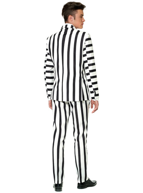 Striped Black and White Suitmeister Anzug