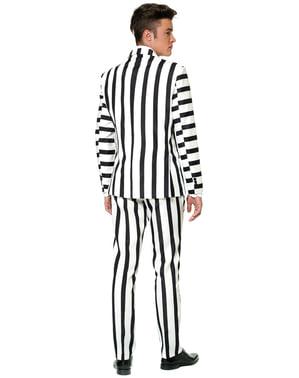 Bijelo i crno prugasto odijelo - Suitmeister