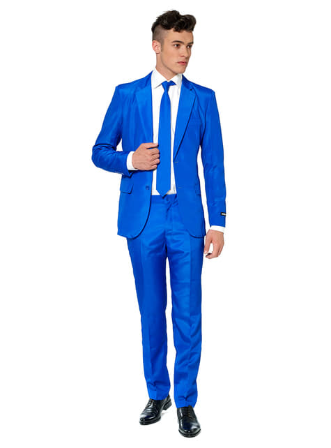 Garnitur Solid Blue Suitmeister