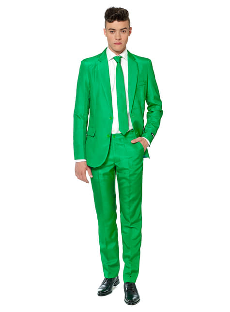Solid Green Suitmeister Anzug