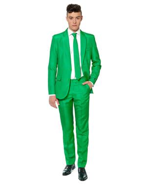 Originální oblek OppoSuit Suitmeister čistě zelený