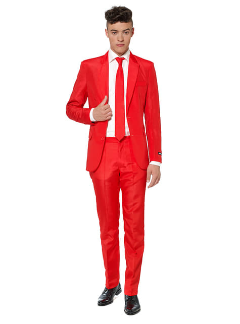 Traje Solid Red Suitmeister