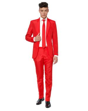 Originální oblek OppoSuit Suitmeister čistě červený