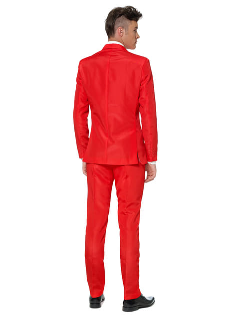 Traje Solid Red Suitmeister - hombre