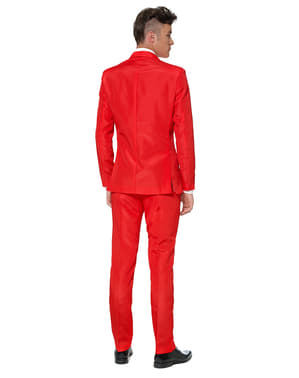 חליפה אדומה אלגנטית לגברים