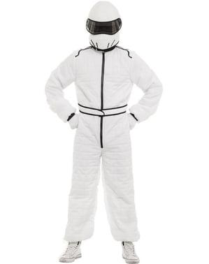 Disfraz de piloto blanco para adulto