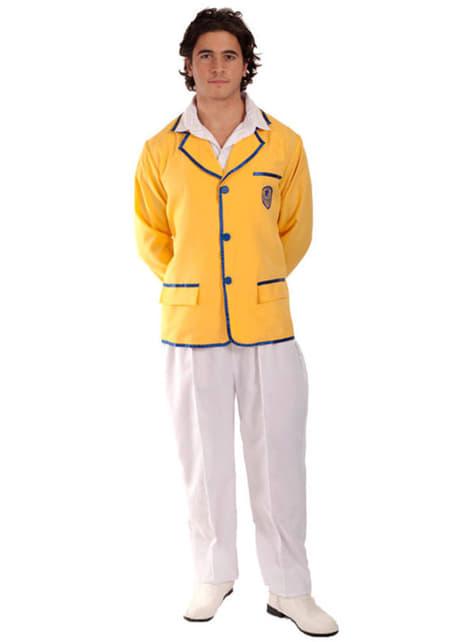 Disfraz de campista feliz amarillo para hombre