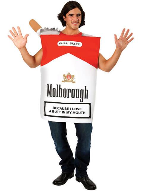 Disfraz de caja de tabaco para adulto