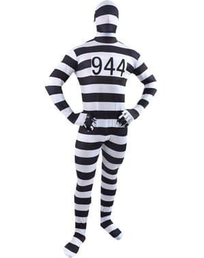 Costum de prizonier morphsuit pentru adult