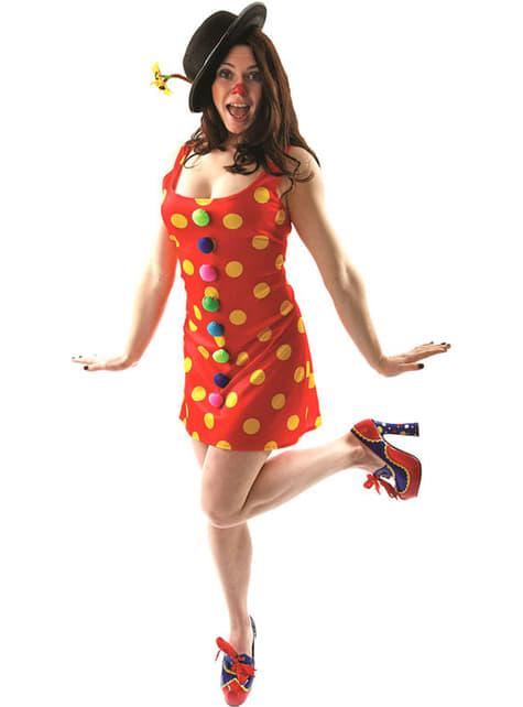 Disfraz de payasita alegre para mujer