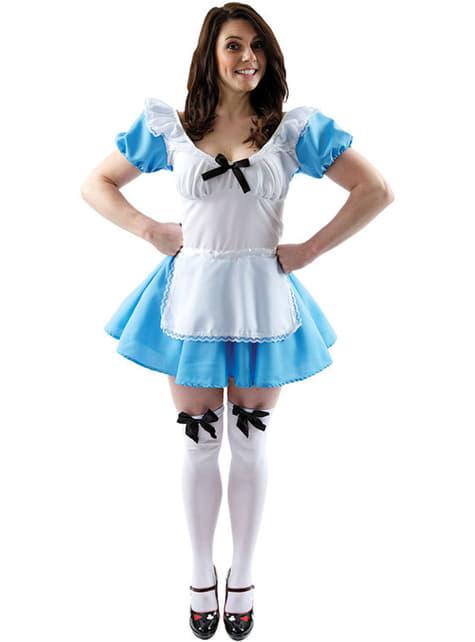 Fato de Alice maravilhosa para mulher