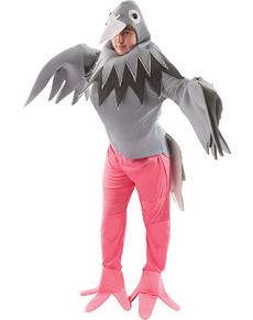 Disfraz de palomo elegante para adulto