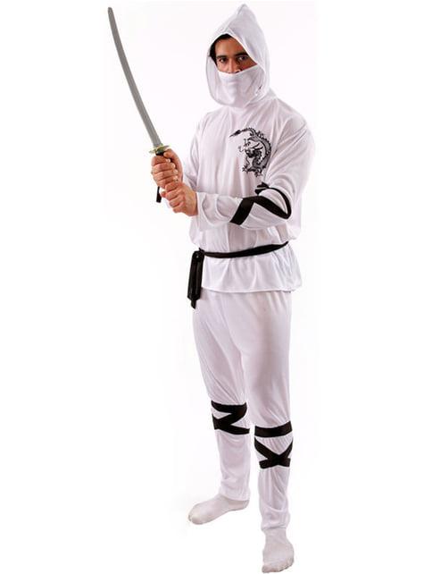 Disfraz de ninja blanco para hombre