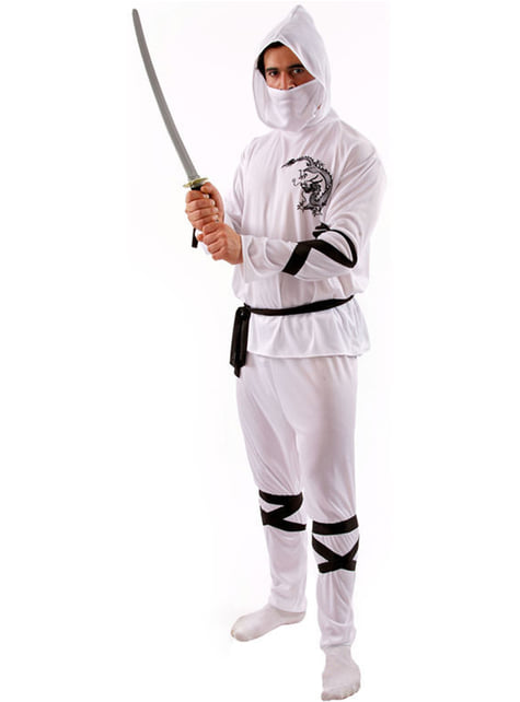 Fato de ninja branco para homem