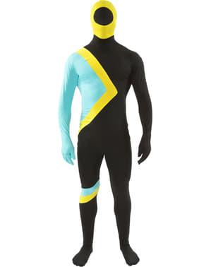 Jamaicaanse vlag tweede huid kostuum voor volwassenen
