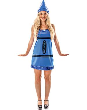 Costum vopsea de ceară albastră pentru femeie