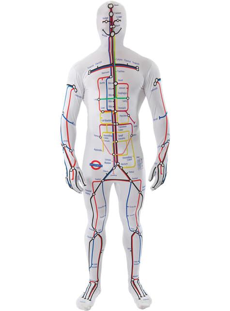 Disfraz de plano de metro segunda piel para adulto