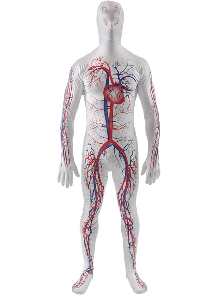 Man\'s Circulatory System Second Skin Costume. Express delivery ...