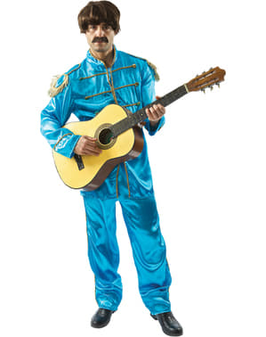 Blå Liverpudlian Musiker Kostyme Mann