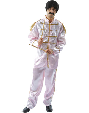 Hvit Liverpudlian Musiker Kostyme Mann