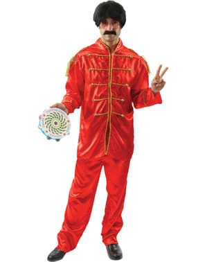 Kostium muzyk z Liverpoolu czerwony męski