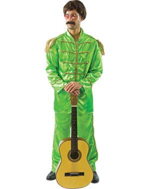 Miesten vihreä Liverpoolilaismuusikon asu