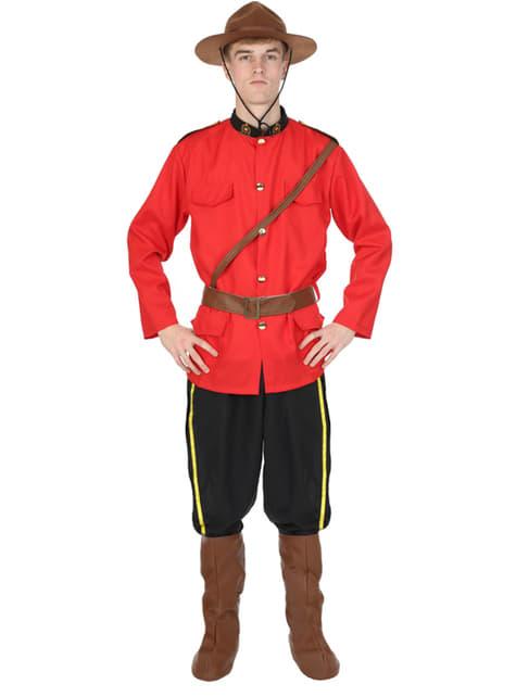 Disfraz de policía montada de Canadá para hombre