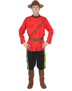 Man's Canadian Mounted Police Costume