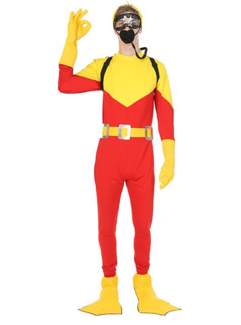 Disfraz de submarinista explorador para adulto