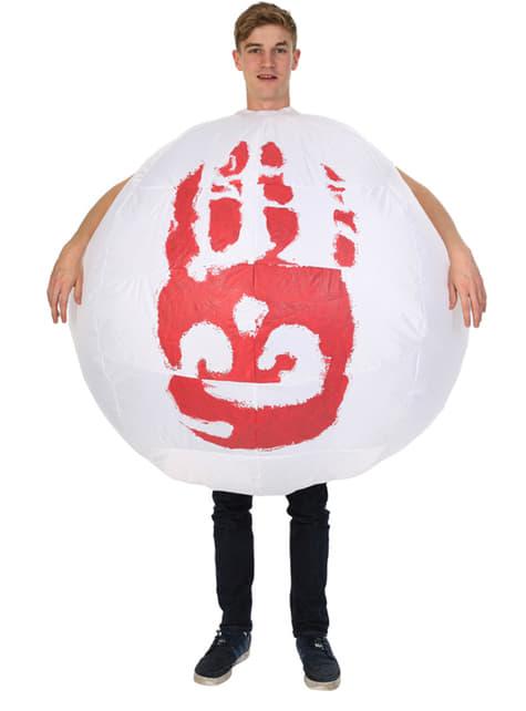Opblaasbare Wilson bal kostuum voor mannen