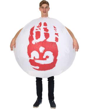 Disfraz de balón Wilson hinchable para hombre