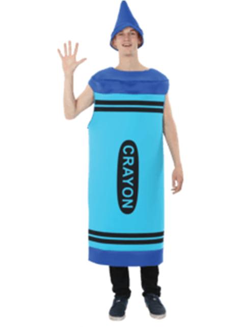 Blauw waskrijtje kostuum voor mannen