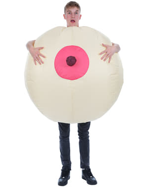Man's Inflatable Giant Boob Costume