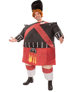 Disfraz de escocés obeso hinchable para hombre
