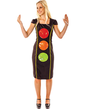 Fato de semáforo brilhante para mulher