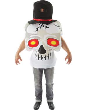 Man's Inflatable Skull Costume