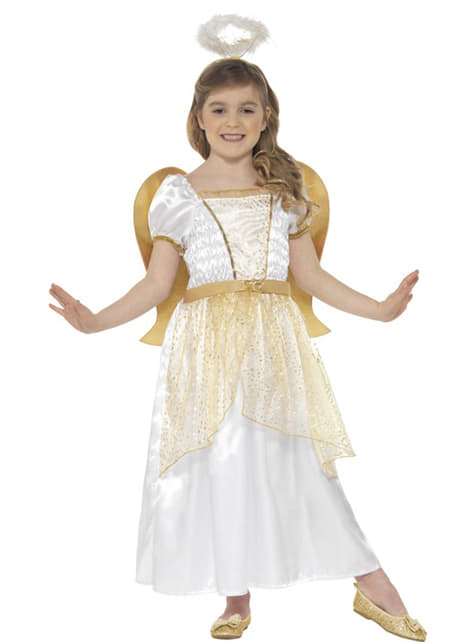 Girl's Gold Little Angel Costume