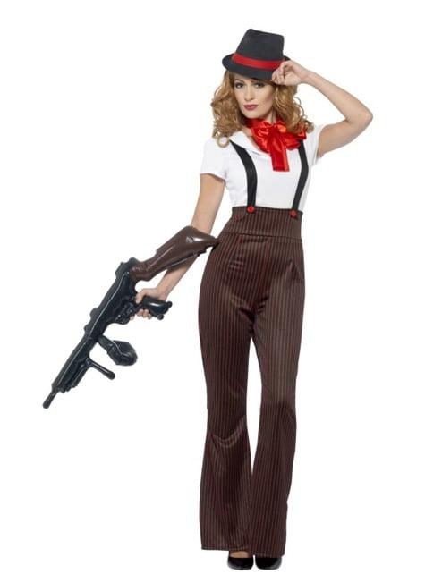 Glamoureuze gangster kostuum voor vrouw