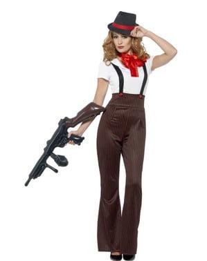 Disfraz de gángster para mujer