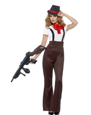 Woman's Glamorous Gangster Costume