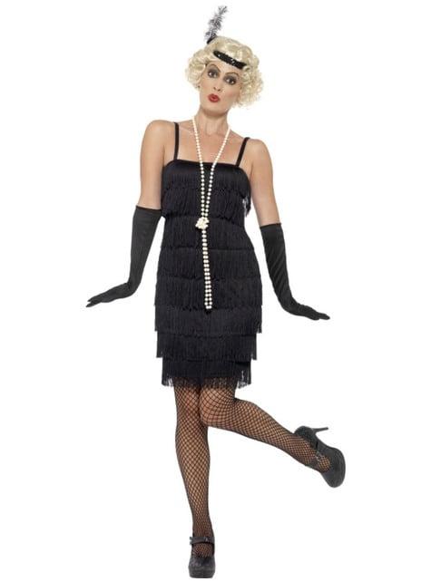 Disfraz de charletón años 20 negro