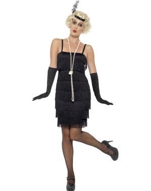 Svart 1920-talls Kostyme Dame