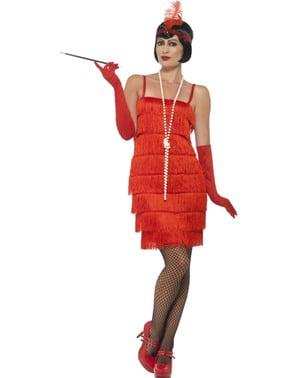 Dámský kostým ve stylu 20. let červený