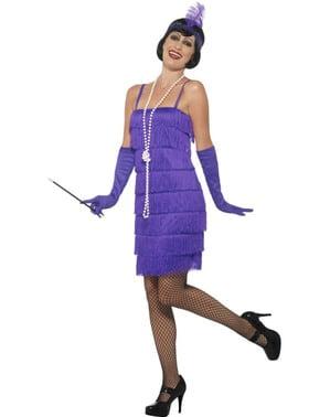 Fioletowy kostium Chłopczyca Flapper lata 20.