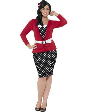 Pin Up Jente plus size kostyme for Dame