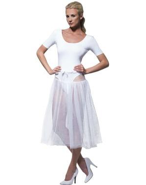 Tutú blanco ajustable para mujer